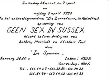Geen sex in Sussex